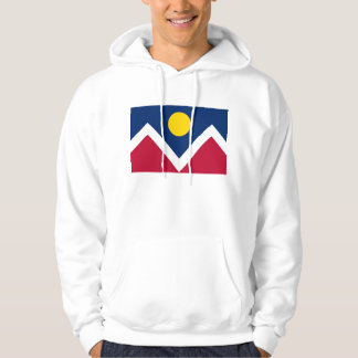 Hooded Sweatshirt with flag of Denver