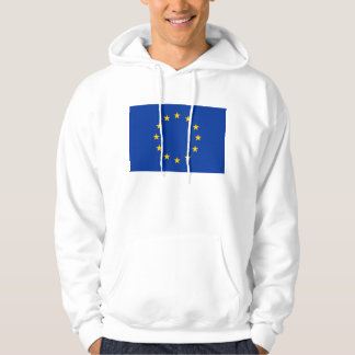 Hooded Sweatshirt with Flag of European Union