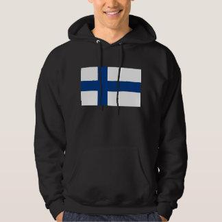 Hooded Sweatshirt with Flag of Finland