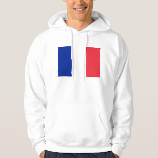 Hooded Sweatshirt with Flag of France
