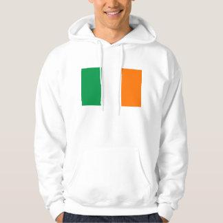 Hooded Sweatshirt with Flag of  Ireland