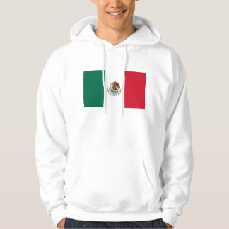 Hooded Sweatshirt with Flag of Mexico