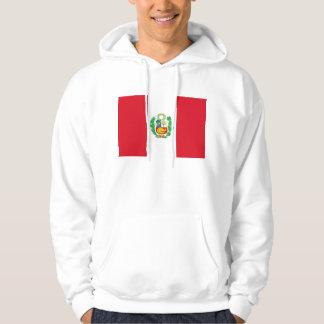 Hooded Sweatshirt with Flag of Peru