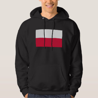 Hooded Sweatshirt with Flag of Poland