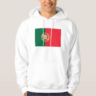 Hooded Sweatshirt with Flag of Portugal