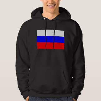 Hooded Sweatshirt with Flag of Russia
