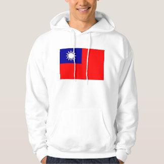 Hooded Sweatshirt with Flag of Taiwan