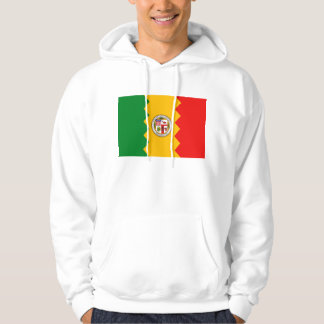 Hooded Sweatshirt with L.A. american flag