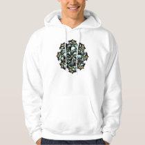 Hoodie, Cute Floral Design, Grey, Gold, Blue Hoodie