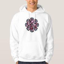 Hoodie, Cute Floral Design, Pink, Blue Hoodie