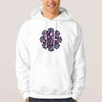 Hoodie, Cute Floral Design, Pink, Blue, Purple Hoodie