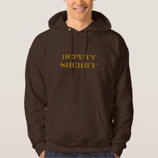 """Hoodie """"DEPUTY SHERIFF"""" brown"""