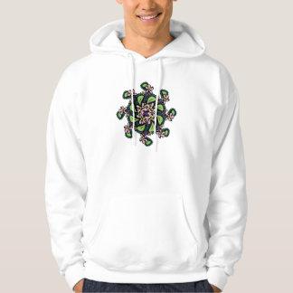 Hoodie, Fun Floral Design, Green, Pink, Yellow Hoodie