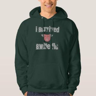 Hoodie - I survived Swine Flu w. Diagram