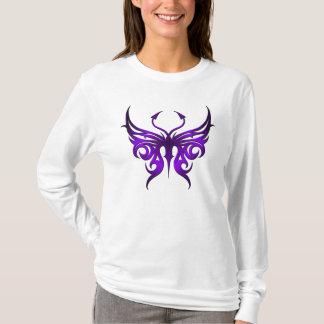 Hoodie. púrpura de la mariposa playera