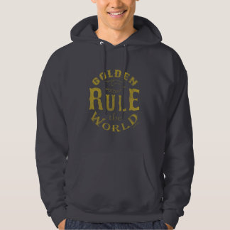 Hoodie Vintage Golden Rule The World