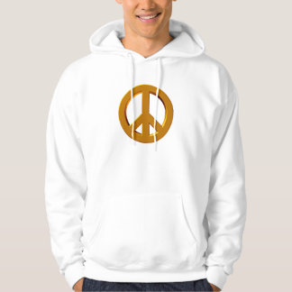 Hoodie with 3-D peace sign
