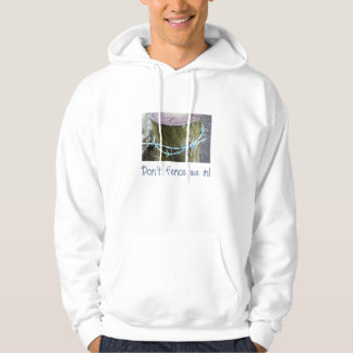 Hoodie with Barbed-Wire Post Design