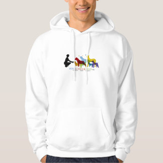 Hoodie with Colored Logo