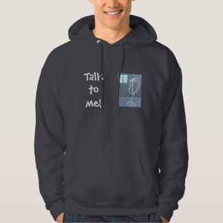 """Hoodie with cool""""talk to me"""" design"""
