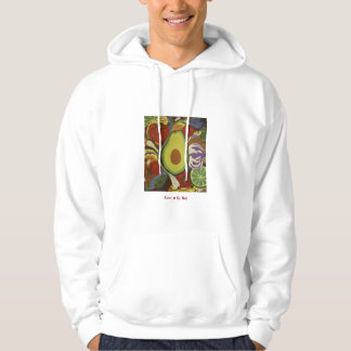 Hoodie with guacamole design