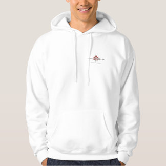 hoodie with logos on front and back!
