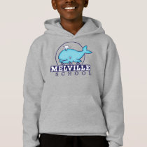 Hoodie with Melville School logo