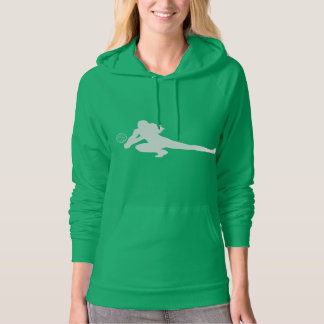 Hoodie with White Dig Silhouette