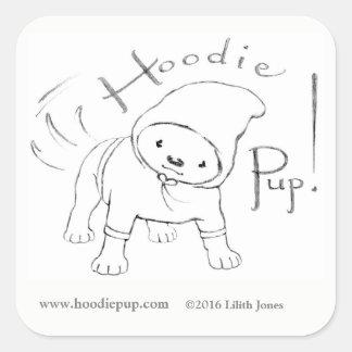 HoodiePup Stickers! Square Sticker