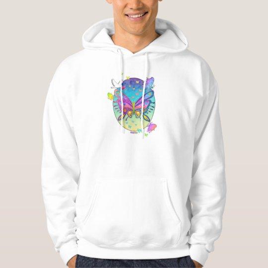 Hoodies, Hooded Sweatshirts - BUTTERFLY POP ART