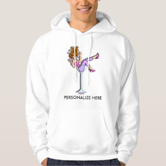 Hoodies, Sweats - Lil Red in Martini Glass Hoodie