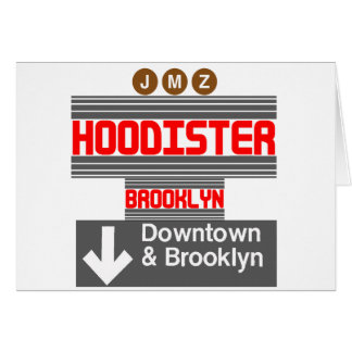 Hoodister Brooklyn New York Card
