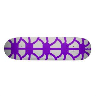 """Hoodman """"Tortoise"""" Purple Silver Skateboard"""