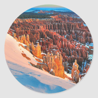 Hoodoo Formations Classic Round Sticker