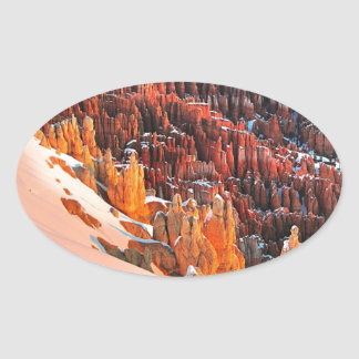 Hoodoo Formations Oval Sticker