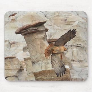 """Hoodoo Hawks"" Wild-Birds Raptor Mousepads"