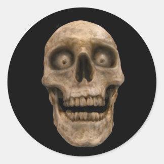 Hoodoo Skull Classic Round Sticker