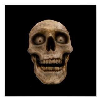 Hoodoo Skull Poster