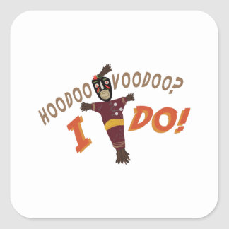 Hoodoo Voodoo Square Sticker