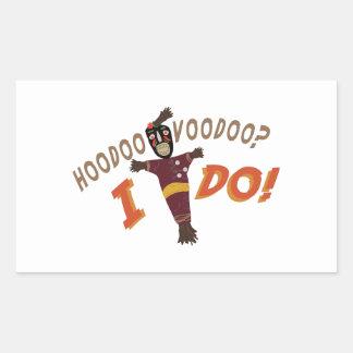 Hoodoo Voodoo Rectangular Sticker