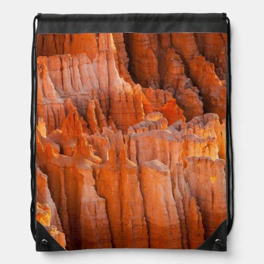 Hoodoos de la roca en luz de la mañana mochila