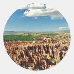 Hoodoos de Utah del parque nacional del barranco Pegatina Redonda