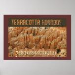 Hoodoos-Poster de la terracota