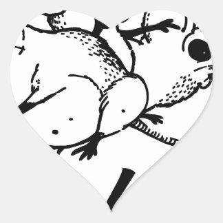 hoodrats heart sticker