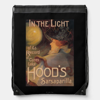 Hood's Sarsaparilla Promotional Poster Drawstring Backpack