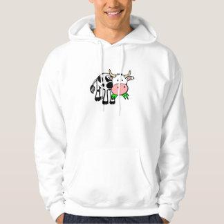 "Hoods T-shirt knows men ""merry cow """