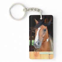 Hoof Prints on our Hearts Pet Horse Memorial Keychain