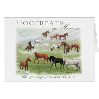 Hoofbeats en el cielo - condolencia del caballo tarjeta de felicitación