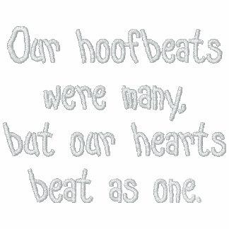 Hoofbeats y golpes de corazón sudadera bordada