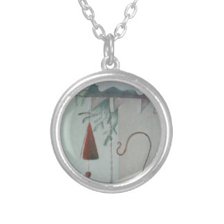 Hook and Chime Silver Plated Necklace